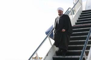 عکس/ ورود روحانی به کرمانشاه