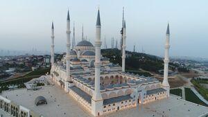 عکس/ افتتاح بزرگترین مسجد ترکیه در استانبول