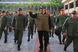 سخنرانی مادورو در جمع نیروهای نظامی