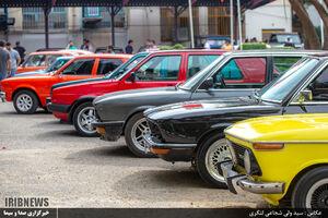 عکس/ گردهمایی خوروهای کلاسیک در ساری