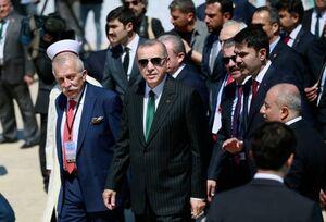 اردوغان در مراسم افتتاح بزرگترین مسجد ترکیه