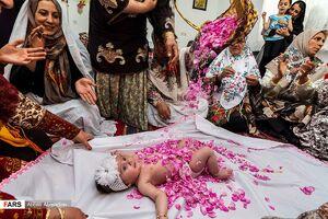 عکس/ آیین گلغلتان نوزادان در امیریه