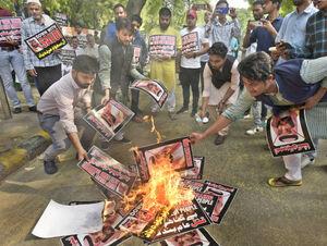 تظاهرات علیه عربستان در دهلی نو