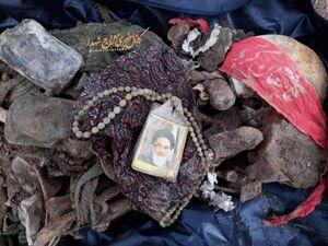 عکس/ بقایای شهید تازه تفحص شده