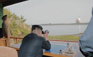 عکس/ اولین آزمایش موشکی کره شمالی پس از مذاکره