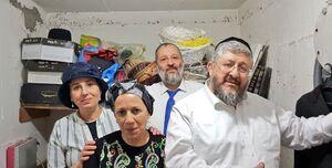 عکس/ ترس وزیراسرائیلی از موشکهای مقاومت