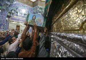عکس/ تشییع پیکر دو شهید مدافع حرم در قم