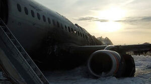 فیلم/ نمای دلهرهآور داخل هواپیمای شعلهور روسی