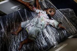 تصویر دردناک از شهادت نوزاد فلسطینی ۱۵+