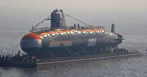 سوتی هند در یک زیردریایی سه میلیارد دلاری +عکس