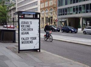 پیام تکاندهنده در خیابانهای لندن +عکس