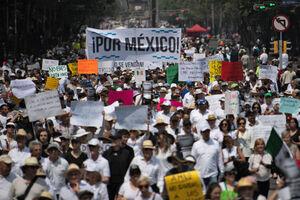 عکس/ تظاهرات ضد دولتی در مکزیک