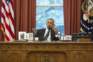 اوباما در حال تماس با روحانی