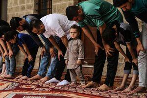 عکس/ نماز عید سعید فطر در نوار غزه