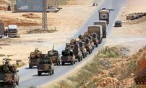 فیلم/ ورود خودروهای نظامی ترکیه به پایتخت لیبی