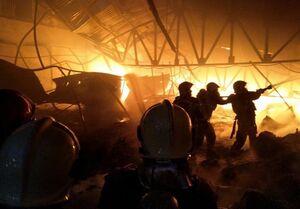 اطفاء آتش بزرگ بازار تبریز در کمتر از ۴ ساعت