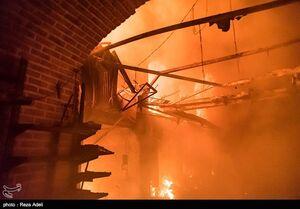 فیلم/ آتش سوزی در بازار فلافل فروشان اهواز