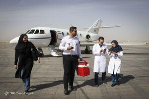 عکس/ ارسال قلب پیوندی از یزد به تهران با جِت!