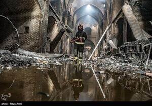 عکس/ بازار تبریز پس از آتش سوزی