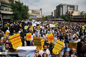 راهپیمایی در اعتراض به اتفاقات دانشگاه تهران +عکس