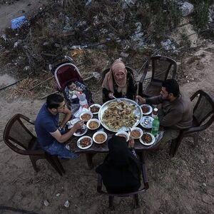 افطار دیدنی یک خانواده فلسطینی +تصاویر
