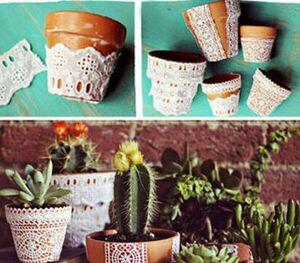 ایدههایی جالب برای تزیین گلدان در خانه +عکس