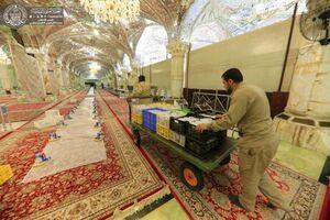 عکس/ افطاری در حرم مطهر علوی