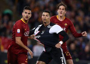 رونالدو بازیکن رم را مورد تمسخر قرار داد +عکس