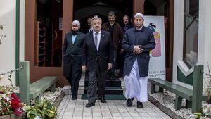 بازدید گوترش از مسجد کرایست چرچ نیوزیلند