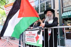 تظاهرات ضد صهیونیستی خاخام ها در نیویورک