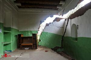 عکس/ رانش زمین در روستای قلعه قافه مینودشت