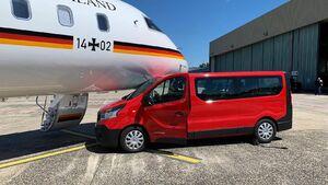 عکس/ هواپیمای صدراعظم آلمان تصادف کرد