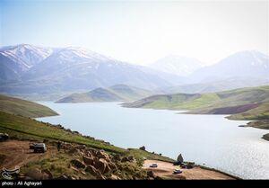 عکس/ طبیعت بهاری تفرجگاه بند ارومیه