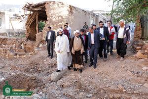 بازدید تولیت آستان قدس رضوی از مناطق سیل زده کلات