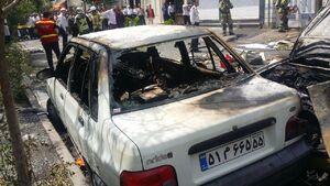 عکس/ انفجار مرگبار در تعمیرگاه خودرو در تهران!