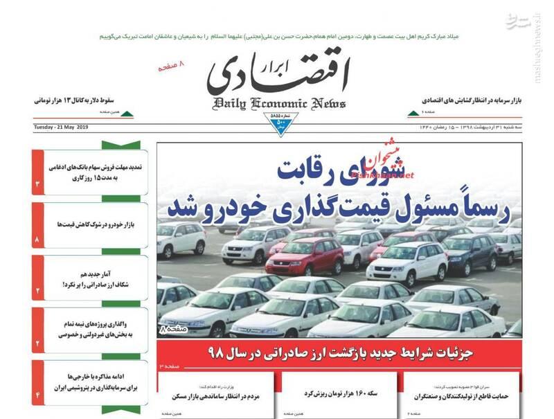 ابرار اقتصادی: شورای رقابت رسما مسئول قیمت گذاری خودرو شد
