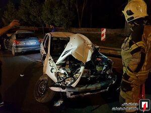 عکس/ تصادف شدید دو پژو ۲۰۶ در تهران