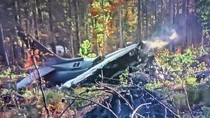 عکس/ سقوط جنگنده آمریکایی