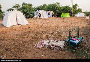 عکس/ وضعیت اهالی روستای سیل زده خسرج