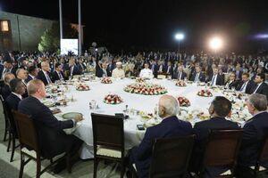 عکس/ افطاری اردوغان با اعضای پارلمان ترکیه