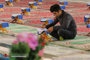مراسم جزءخوانی قرآن کریم در امامزاده هلال بن علی (ع)