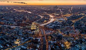 عکس/ چشماندازی زیبا از رودخانه مسکو
