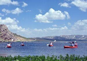 قایقرانی در ارتفاعات اَرَک ترکیه
