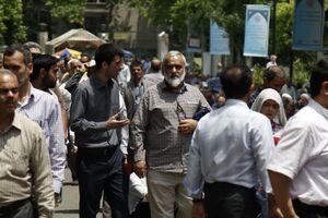 عکس/ سردار نقدی در بین نمازگزاران