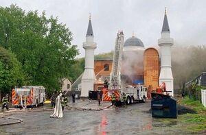 آتش زدن یک مسجد در آلمان +عکس