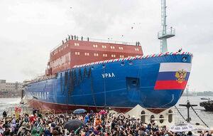 کشتی یخ شکن هستهای جدید روسیه