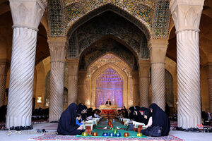 عکس/ محفل اُنس با قرآن در مسجد تاریخی شیراز