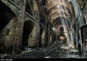 عکس/ روند کُند پاکسازی بازار تاریخی تبریز