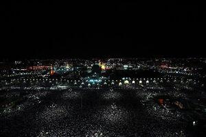تصویری زیبا از حرم رضوی در شب ۲۱ رمضان