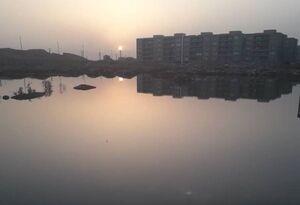 دریاچه فاضلاب در اهواز +عکس